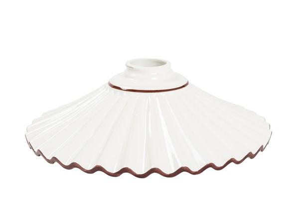 Lampadario Ceramica Di Bassano.Piatto In Ceramica Marrone Ondulato Ricambio Per Lampadari
