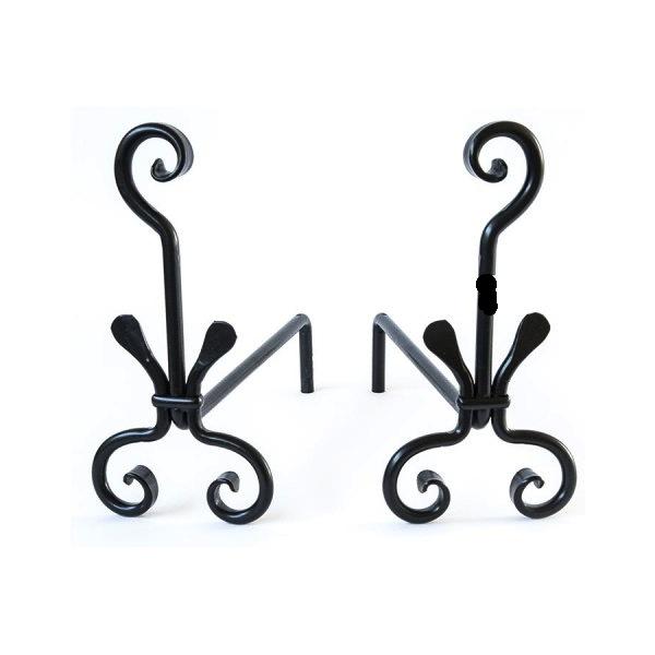 Coppia di alari in ferro battuto per camino modello milano   Arterameferro  - Lampade, mobili e complementi di arredo per la casa