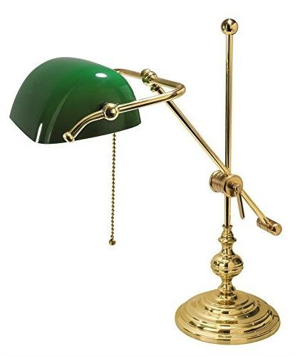 Lampada Da Scrivania In Ottone.Lampada Da Tavolo Ministeriale In Ottone Arterameferro Lampade