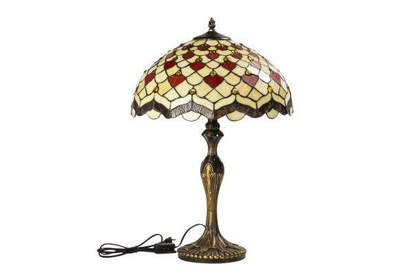 Lampada tiffany da tavolo con gemme incastonate - Lampade tiffany da tavolo ...
