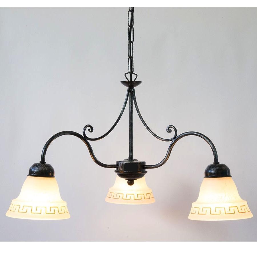 Lampadario 3 luci Atena in ferro battuto   Arterameferro - Lampade, mobili  e complementi di arredo per la casa