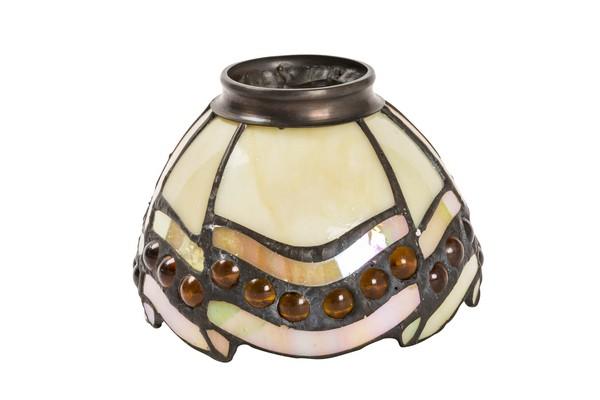 Vetro in stile tiffany con gocce ambrate arterameferro lampade