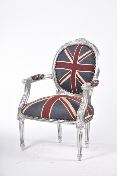 Poltrone Pelle Stile Inglese.Poltrona Foglia Argento Stile Barocco Bandiera Inglese