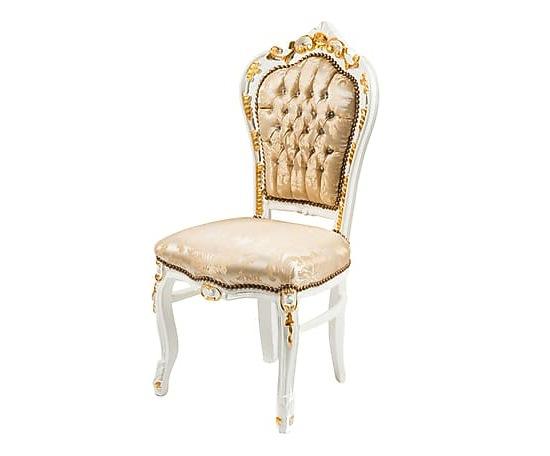 Sedia in stile barocco lavorazione intarsi a rilievo